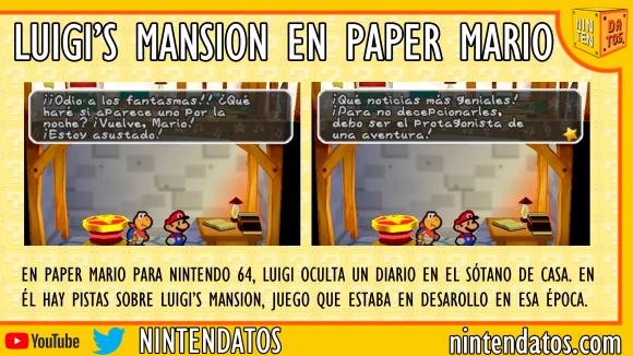 luigi´s mansion en paper mario