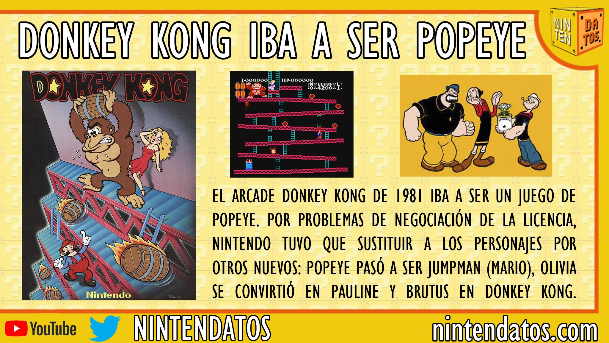 Donkey kong y popeye