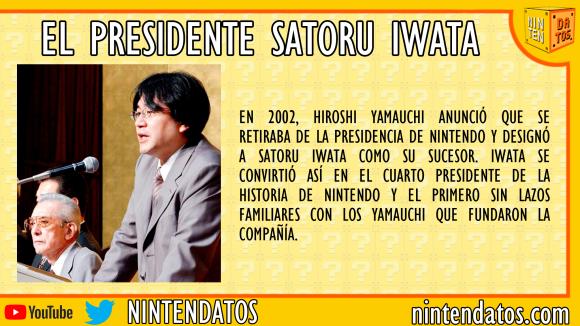 El presidente Satoru Iwata