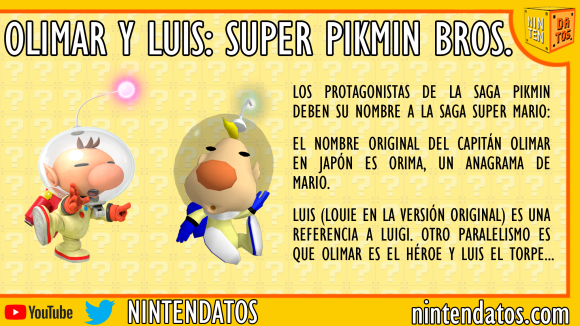 Olimar y Luis Super Pikmin Bros