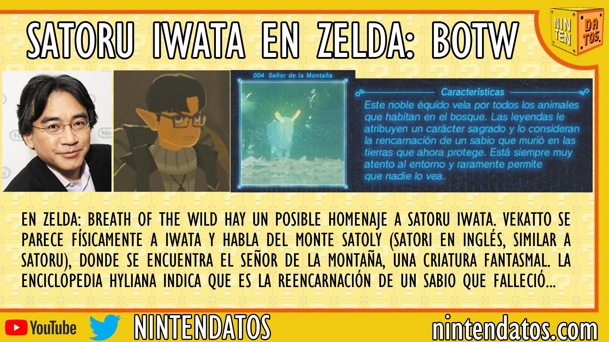 Satoru Iwata en Zelda Breath of the Wild