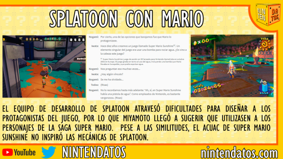Splatoon con mario