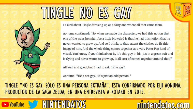 Tingle no es gay