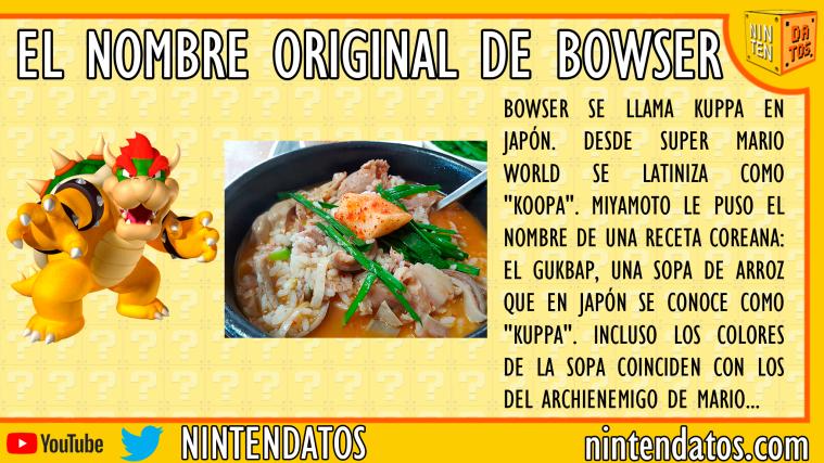 el nombre de bowser