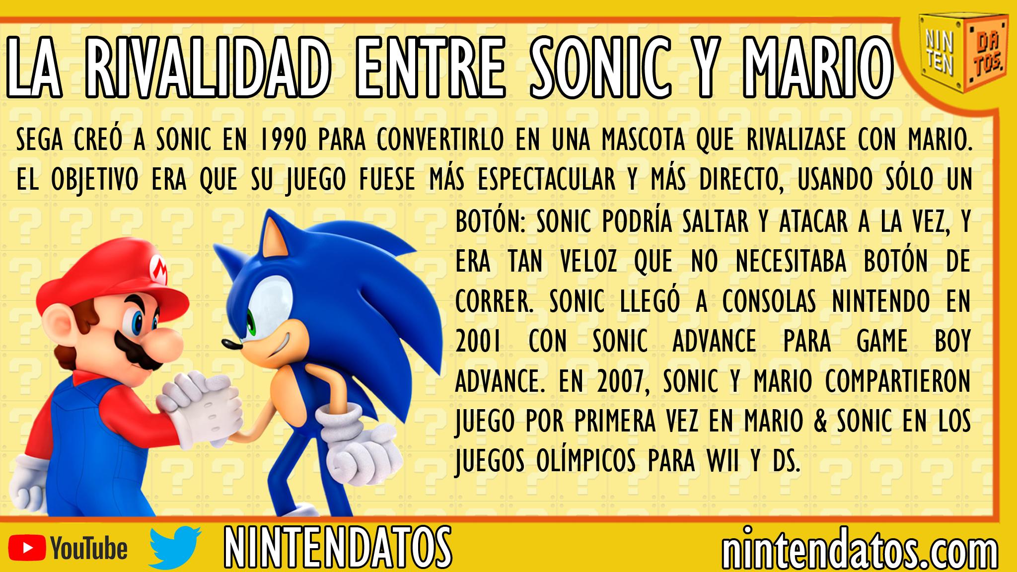 La rivalidad entre Sonic y Mario