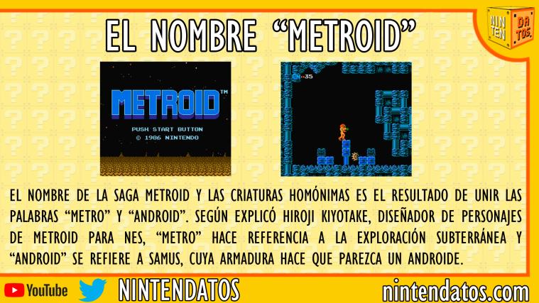 El nombre Metroid