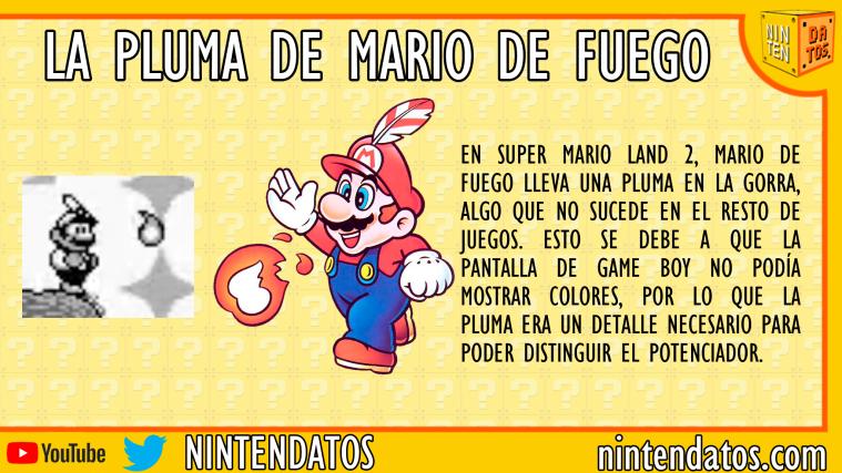 La pluma de Mario de Fuego en Super Mario Land 2