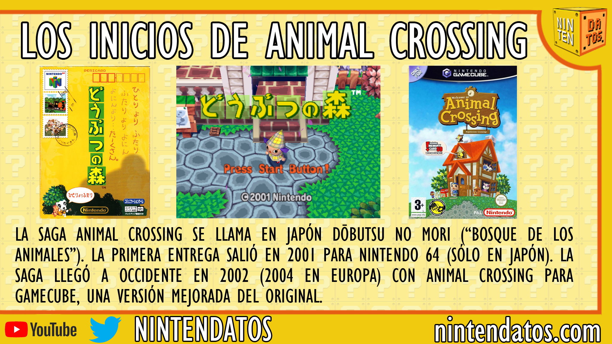 Los inicios de Animal Crossing