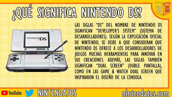 ¿Qué significa Nintendo DS?