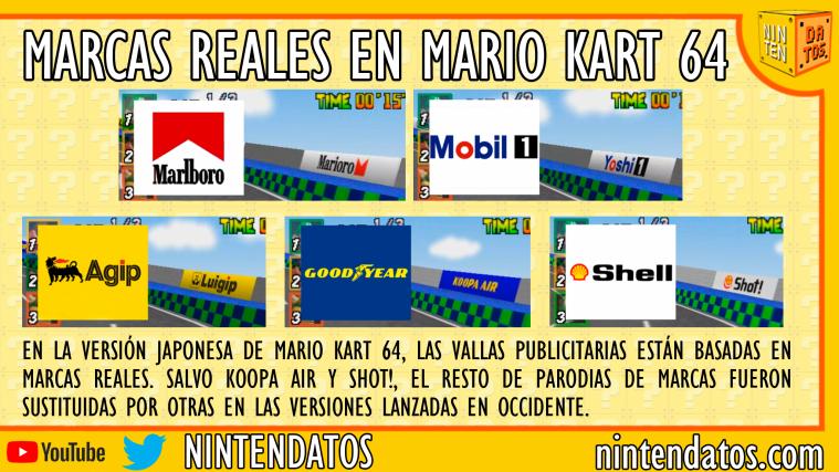 Parodias de marcas reales en Mario Kart 64