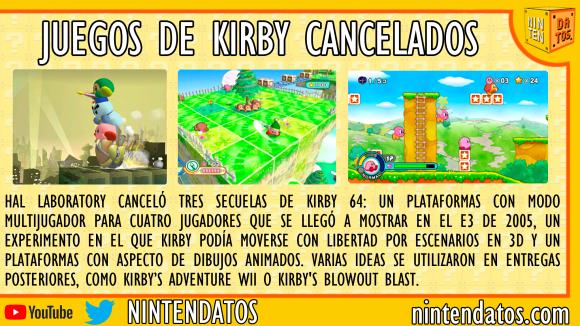 Juegos de Kirby cancelados