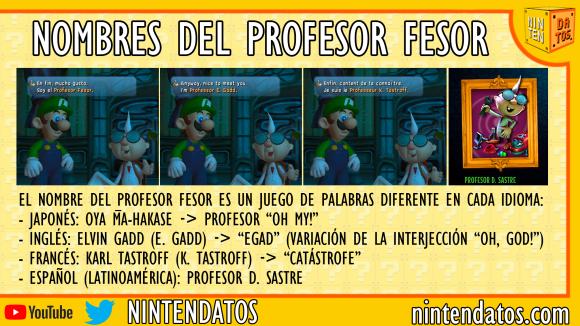 Nombres del profesor Fesor