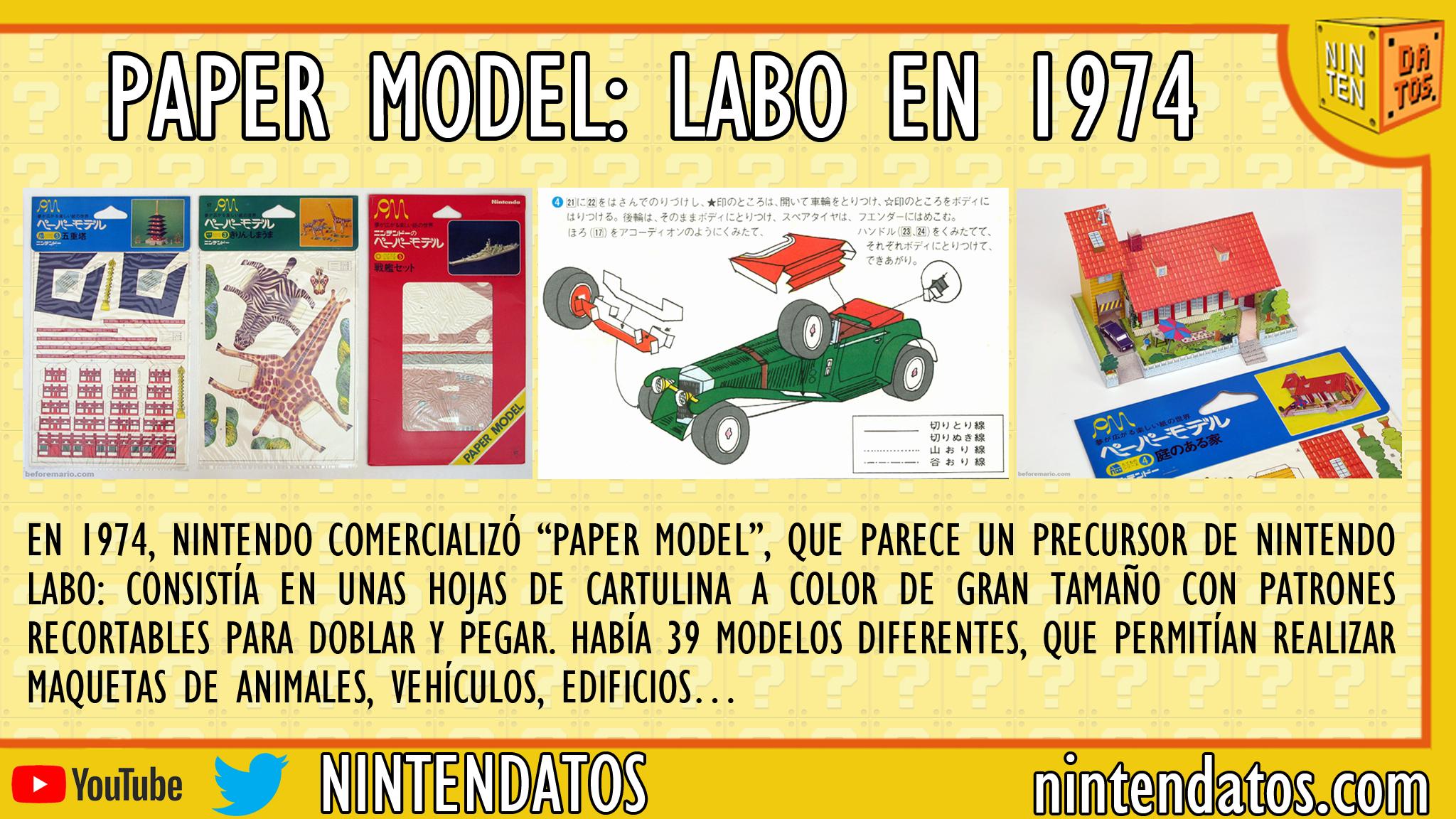 Paper Model - Nintendo Labo en 1974
