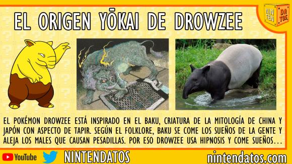 El origen yōkai de Drowzee