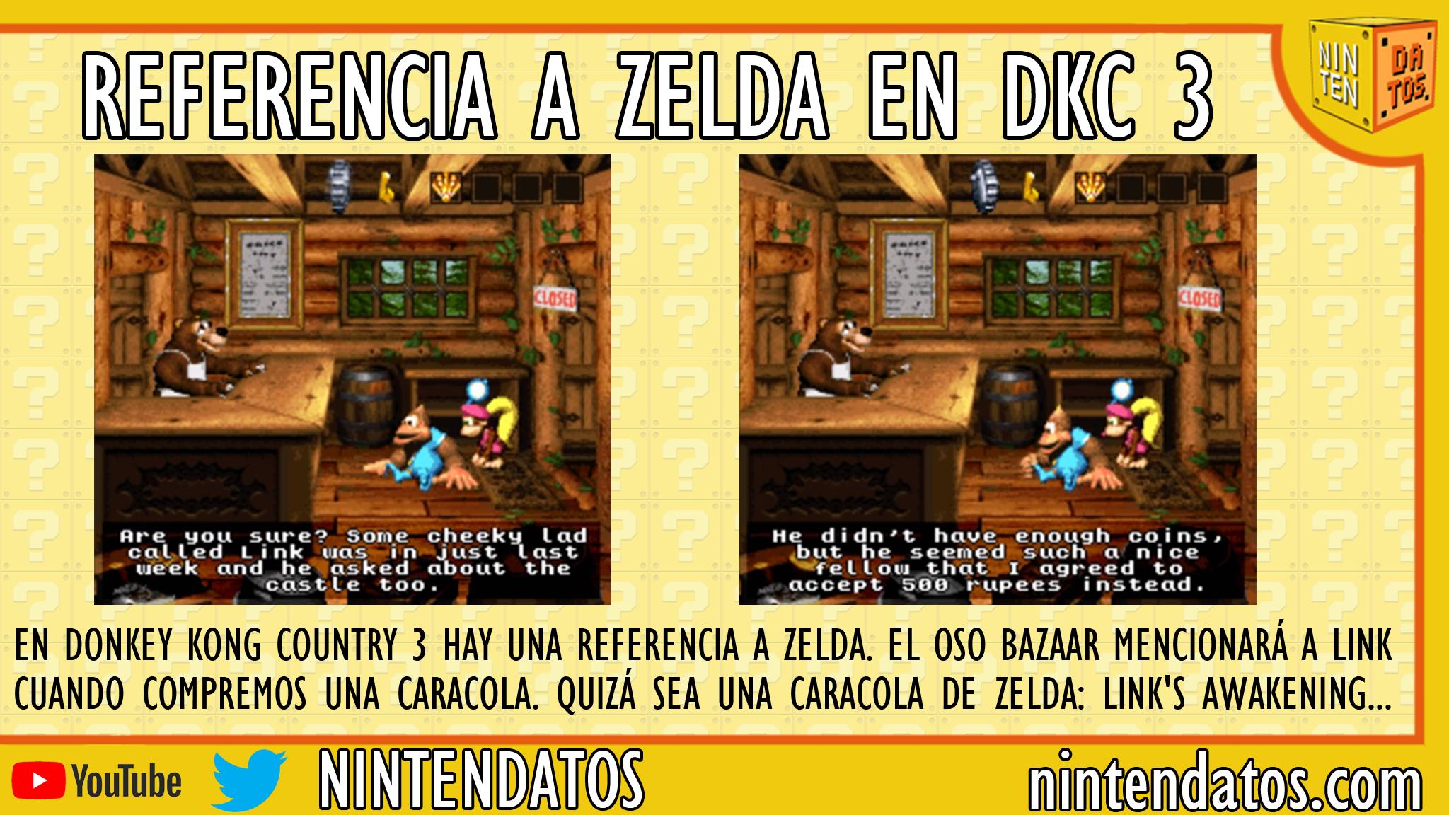 Referencia a Zelda en Donkey Kong Country 3