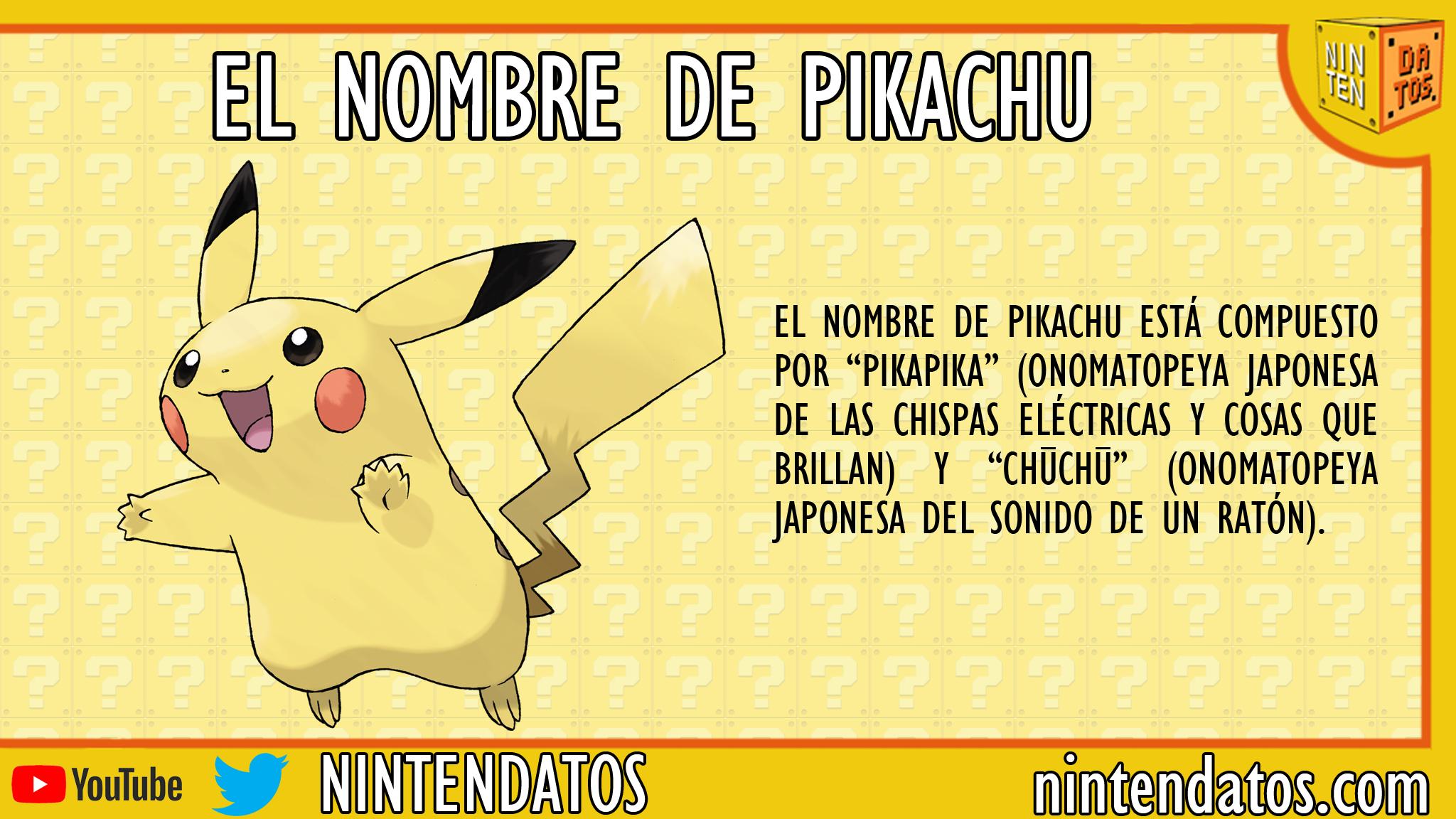 El nombre de Pikachu