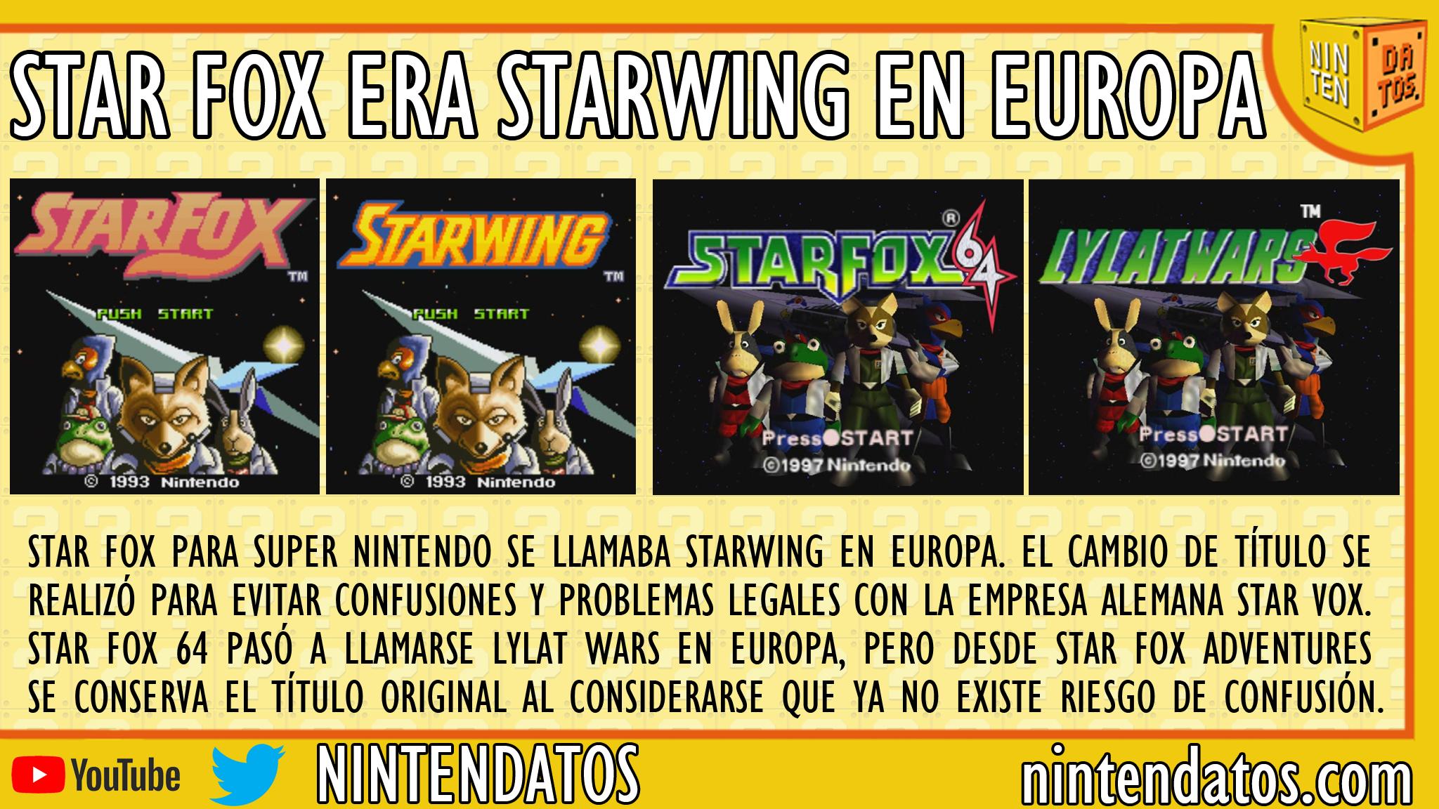 Star Fox era Starwing en Europa