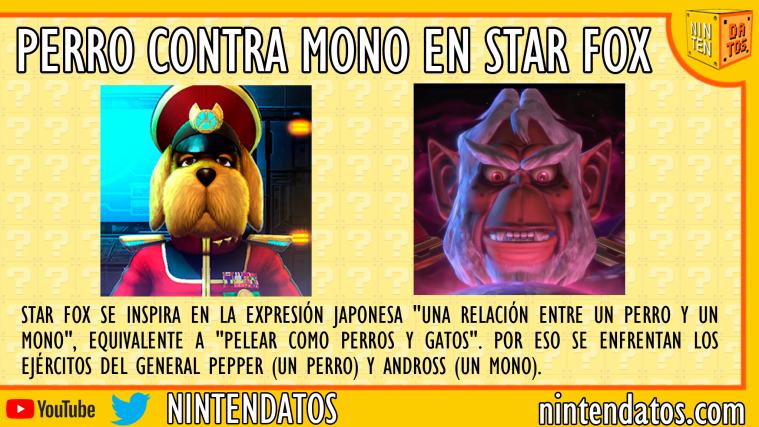 Perro contra mono en Star Fox